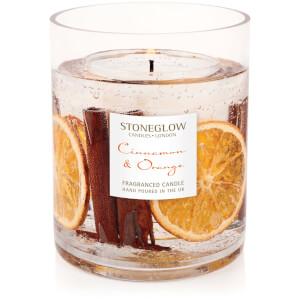 Stoneglow Cinnamon and Orange Natural Wax Vase Candle