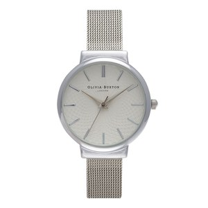 Olivia Burton Women's The Hackney Watch - Silver Mesh