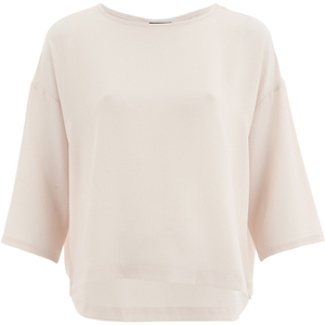 Selected Femme Women's Givenna 3/4 Top - Silver Peony