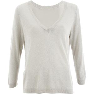 Selected Femme Women's Pelja 3/4 Knitted Top - Silver Cloud