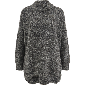 Selected Femme Women's Erica Knitted Pullover - Dark Grey Melange