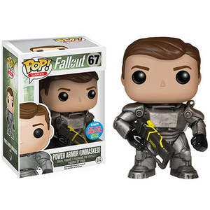 NYCC Fallout Power Armour Unmasked Exclusive Pop! Vinyl Figure