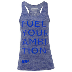 Myprotein Damen Performance Slogan Tank Top - Blau