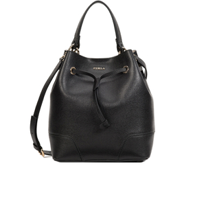 Furla Women's Stacy Drawstring Bucket Bag - Black