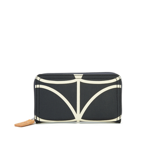 Orla Kiely Women's Stem Big Zip Wallet - Black