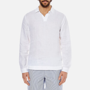 Orlebar Brown Men's Ridley Long Sleeve Smock - White