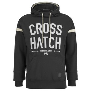 Crosshatch Men's Chassis Print Hoody - Black