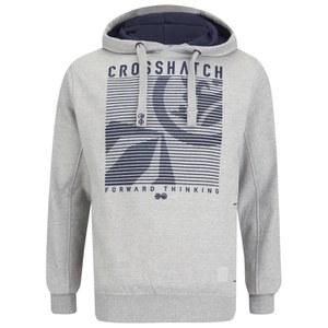 Crosshatch Men's Lambent Graphic Hoody - Light Grey Marl