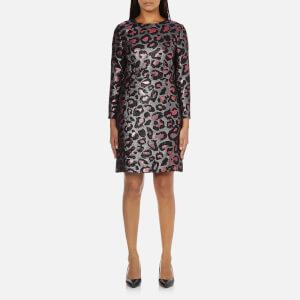 Marc by Marc Jacobs Women's Leopard Lurex Dress - Fuchsia Multi