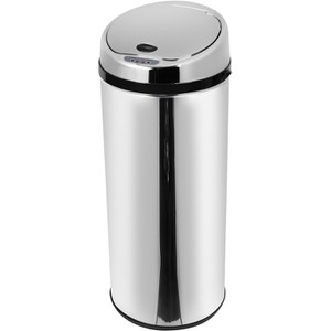 Morphy Richards 971514/MO Round Sensor Bin - Stainless Steel - 42L
