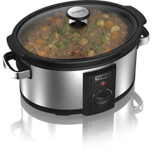 Tower T16011 6.5L Manual Slow Cooker - Silver