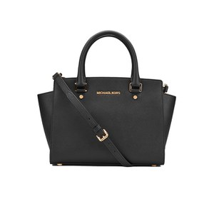 MICHAEL MICHAEL KORS Women's Selma Medium Top Zip Satchel - Black