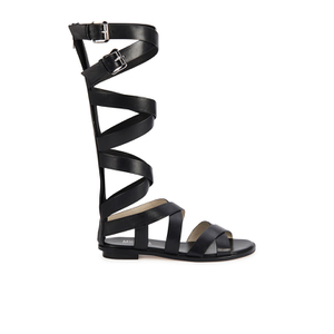 MICHAEL MICHAEL KORS Women's Darby Vachetta Knee High Gladiator Sandals - Black