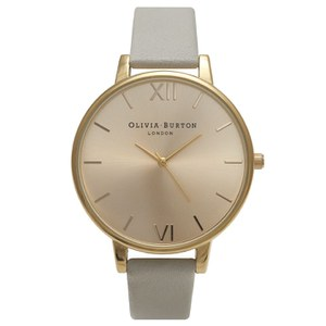 Olivia Burton Women's Big Dial Watch - Grey/Gold