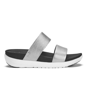 FitFlop Women's Loosh Slide Sandals - Silver