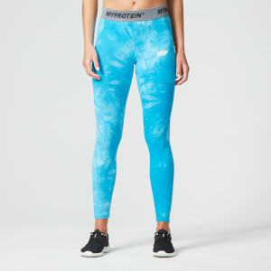 Myproteins Tie-Dye Core tights - Blå