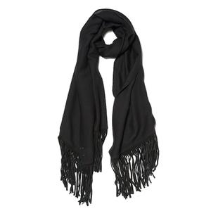 BeckSöndergaard Women's Kamo Leather Tassle Wool Scarf - Black