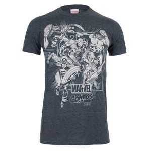 Marvel Men's Band of Heroes T-Shirt - Dark Heather: Image 1