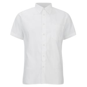 Universal Works Men's Seersucker Short Sleeve Shirt - White