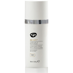 Green People Age Defy+ Tinted DD Moisturiser nawilżający krem DD z filtrem SPF 15 - Light (30 ml)