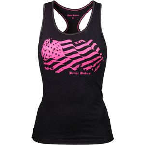 Better Bodies Women's N.Y Rib T-Back Tank Top - Black