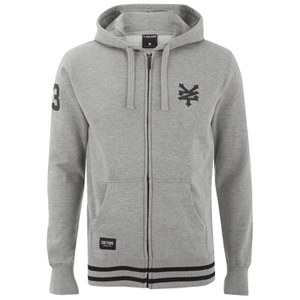 Zoo York Men's Chadder Zip Through Hoody - Ath Grey