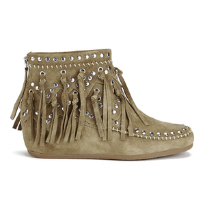 Ash Women's Spirit Suede Fringed Ankle Boots - Wilde