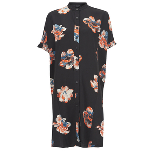 VILA Women's Nadine Short Sleeve Shirt Dress - Black