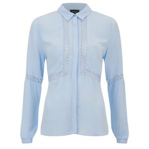 VILA Women's Pama Long Sleeve Shirt - Cashmere Blue