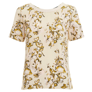 VILA Women's Corabell Short Sleeve Blouse - Sandshell