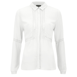 VILA Women's Pama Long Sleeve Shirt - Pristine