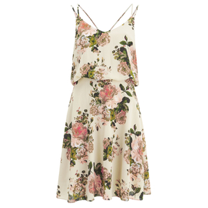 VILA Women's Flourish Spring Strap Dress - Pristine