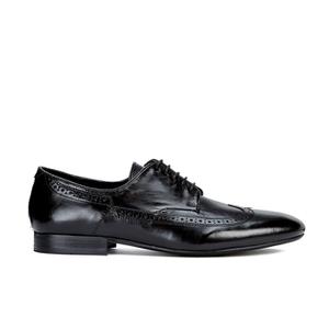 Hudson London Men's Olave Leather Derby Shoes - Black