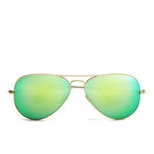 Ray-Ban Aviator Large Metal Sunglasses - Mirror Multi Blue