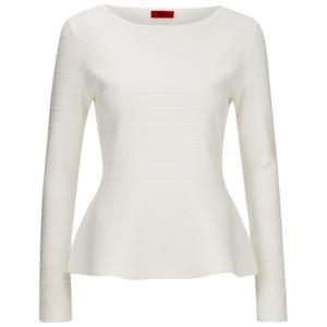 HUGO Women's Scilly Knitted Jumper - White