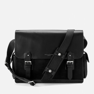 Aspinal of London Men's Large Shadow Messenger - Black