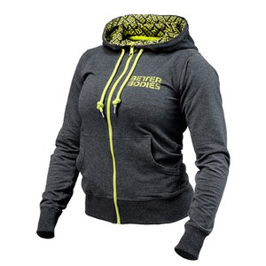 Better Bodies Women's Soft Logo Hoody - Anthracite