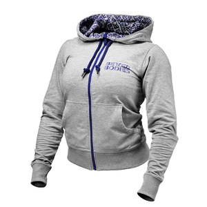 Better Bodies Women's Soft Logo Hoody - Grey Melange