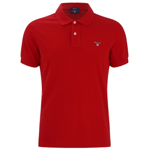 GANT Men's Original Pique Polo Shirt - Bright Red