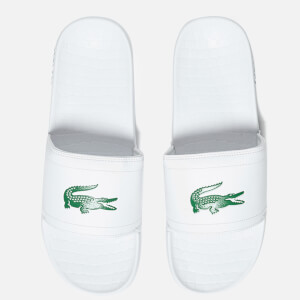 Lacoste Men's Frasier Slide Sandals - White/Green