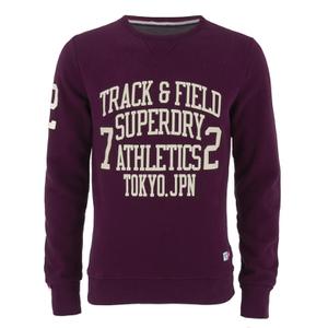Superdry Men's Trackster Crew Sweatshirt - Fig