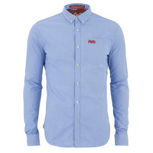 Superdry Men's London Button Down Shirt - Ink Gingham