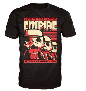 T-Shirt Pop! Homme Star Wars Stormtrooper Poster - Noir
