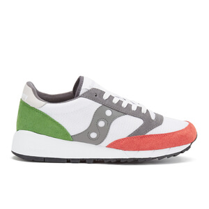 Saucony Men's Jazz 91 Trainers - White/Light Red/Green