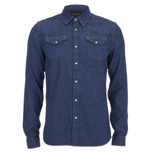 Scotch & Soda Men's Classic Western Shirt - Blue