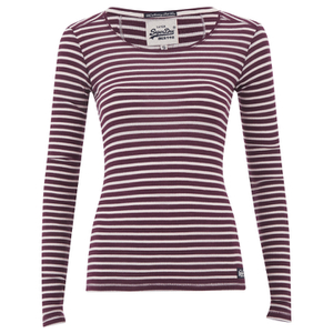 Superdry Women's Super Sewn Skinny Rib Layering T-Shirt - Red