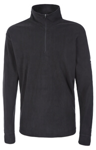 Trespass Men's Duty AirTrap100 1/2 Zip Fleece Jumper - Black