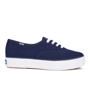 Keds Women's Triple Eyelet Flatform Trainers - Peacoat Navy
