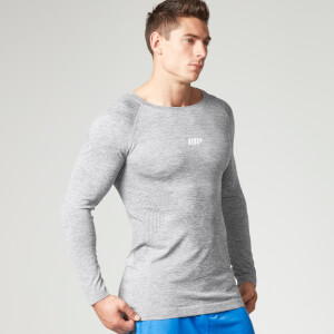 Myprotein Seamless Performance Long Sleeve Top, Herr - Grå