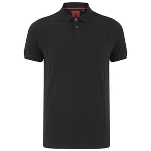 Luke Men's 2 Bob Note Mixed Fabric Polo Shirt - Jet Black